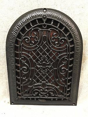 Antique Cast Iron Arch Top Dome Heat Grate Wall Register Gothic vtg 129-17J