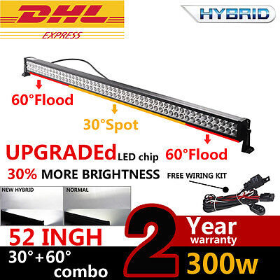 """52"""" 300W combo LED Work Light Bar Off road Driving Truck 4WD 28500LM für jeep"""