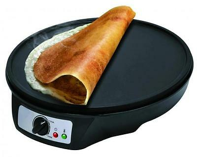 "1000W 12"" Electric Pancake Crepe Maker Non Stick Large Plate Free Accessories"