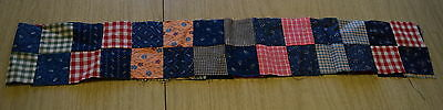 14 1890-1920 small 4 Patch quilt blocks, indigo, woven thread dyes, maroon print