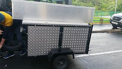 Car/camping Trailer All Aliminium Checker Plate With Fishing Rod Box Attached