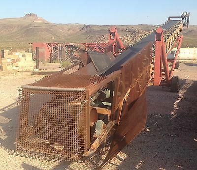 Stacking Conveyor 30 Inch By 60 Latice Frame With Belt Scale