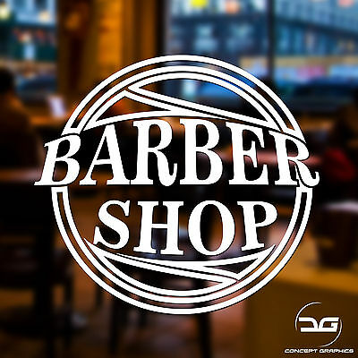 Barber Shop Window Sign Decal Vinyl Sticker Hairdressers Salon Wall Sign Advert