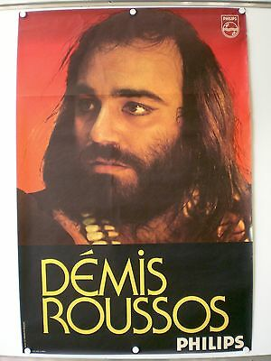 Demis Roussos Affiche Originale Rare Philips Photo J.c Higgins (1970)