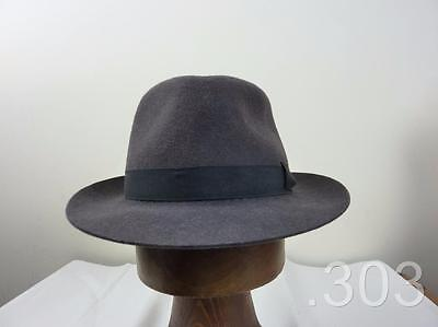 Vintage Dunn & Co Brushed Brown Felt Trilby Hat Size 56 or 6 7/8