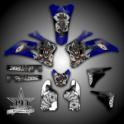 YAMAHA YZ450F YZ250F 4 Stroke 2003-2013 GRAPHICS KIT DECALS OUTLAW SKULL