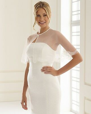 Brand New Bridal Cape Capelet Jacket Coverup Ivory Tulle Lace