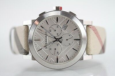 Burberry No. BU-9357 City Leather Strap Nova Chronograph Watch Swiss Made