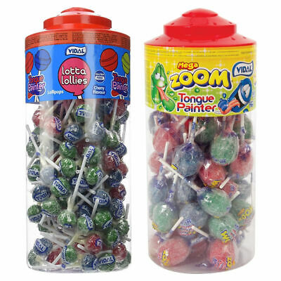 Tongue Painter Cherry Flavour Vidal Lotta Lollies Lolly Sweets (3, 10, 30 or 15)