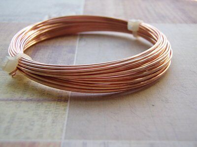 Rose Gold Plated Wire Round Half Hard Jewelry Wire COILED 20 Gauge