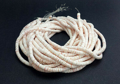 Pink Luhuanus Shell Heishi Beads (2 - 3 mm / 24 Inches Strand)