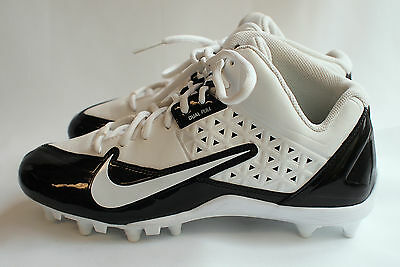 Nike Alpha Strike 3/4 Cleats TD Football White / Black Size 10 Style 579370-100