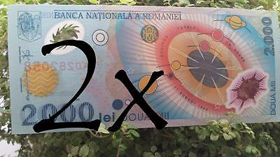 Non circulated 2000 LEI Polymer Banknote Se.03A total solar eclipse of Aug11,'99