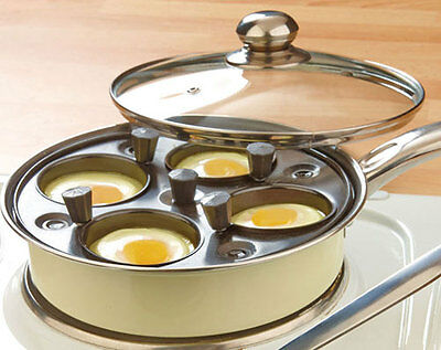 4-Cup Egg Poaching -Non-Stick Interior & Vented Lid To Double Up As A Normal Pan