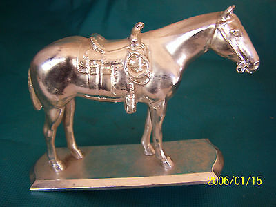 "5"" Tall Silver Coated Horse Trophy Topper"