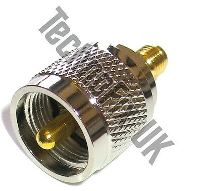 SMA female to UHF male PL259 adapter (SMA F to UHF M)