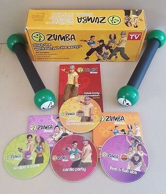 Zumba Fitness 4 DVD and Toning sticks set.