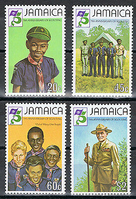 Jamaica 528-31 MNH 75th Year of Boy Scouts postage stamp 1982