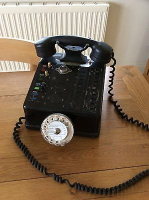Rare vintage French Police ?  Station Switchboard Bakelite phone exchange dial