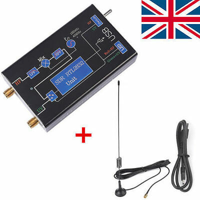 UK Upgraded 100KHz-1.7GHz Full Band RTL-SDR USB Tuner Receiver R820T+2832U Radio
