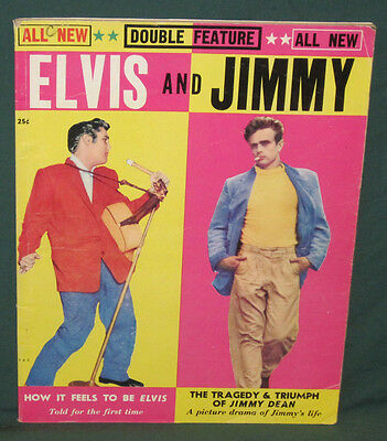Elvis Presley And Jimmy Dean Magazine 1956 Excellent Rare