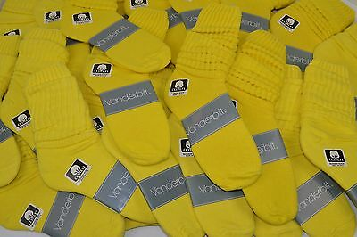 VINTAGE New Lot of 32 Pairs Cotton SLOUCH Baggy Socks Lemon Yellow - 1980's