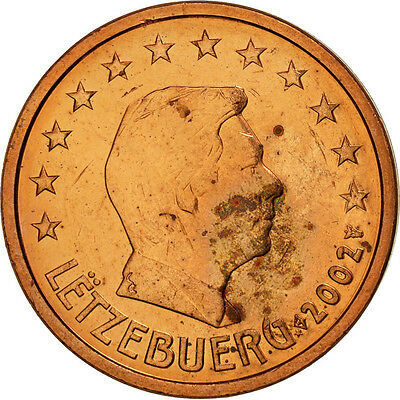 [#461288] Luxemburg, 2 Euro Cent, 2002, UNZ, Copper Plated Steel, KM:76
