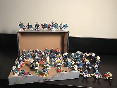 SMURF LOT 52 Figures - Some Rare 1970's And 1980's