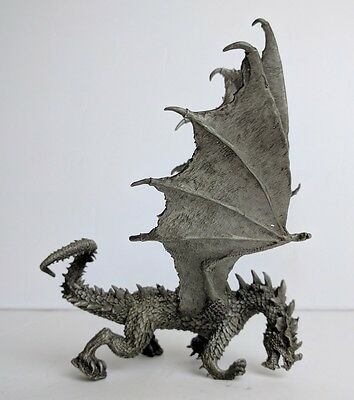 """Pewter dragon with purple Stone left hand S Garrity 6"""""""