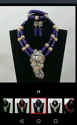 Pearl Necklace Set African Nigerian Wedding Beads,nigerian Coral Crystal  Party