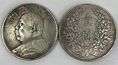 "One Piece Of Chinese Republic President ""yuan Shi Kai"" coin ( Year Nine)"