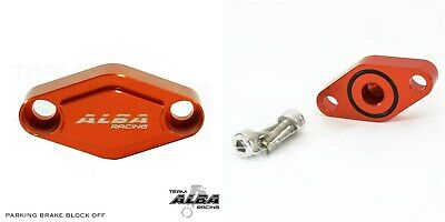 Honda TRX 400EX 400X  Parking Brake Blockoff Plate  Block off Plate Orange
