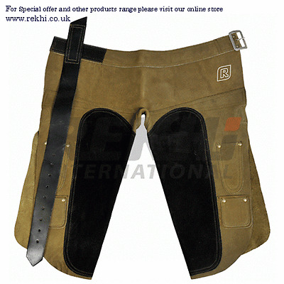 Farrier APRON Chap SUEDE Leather,Horse Shoeing Apron Hoof Trimming Leather Chaps