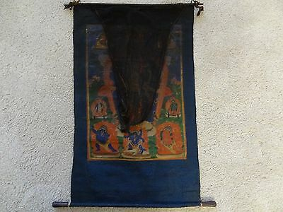 ANTIQUE   MONGOLIAN BUDDHIST THANGKA PAINTING of a AVALOKITESHVARA