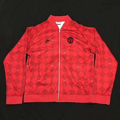 Nike Sportswear Manchester United Football Soccer Track Jacket Red Mens Large