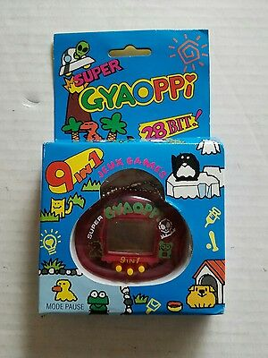 Super Gyaoppi Electronic Handheld Pet Game 9 In 1 - Red - New In Box