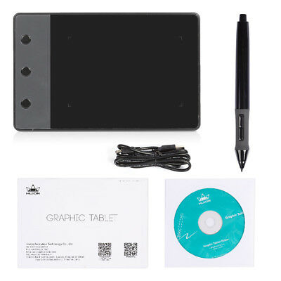 "UK Stock Huion H610N 5080 LPI 10x6.25"" Professional Art Graphics Drawing Tablet"