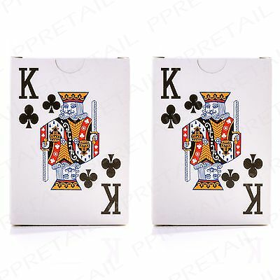 2 x Full Playing Card Set JUMBO INDEX Easy To Read Deck Party Garden Fun Party
