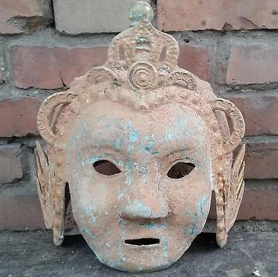 antique   Bronze witch masks of the warring states period in ancient China.
