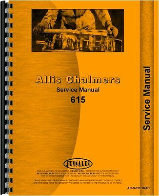 Allis Chalmers 615 Tractor Loader Service Parts Manual Part Numbers CD