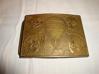 Vintage Brass Barnum and Baileys 1908 Belt Buckle