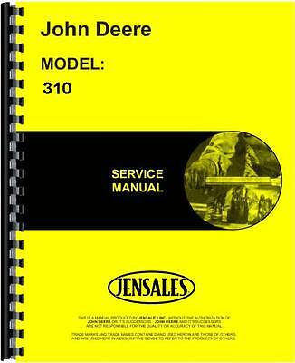 John Deere 310 Tractor Loader Backhoe Service Manual JD-S-TM1036
