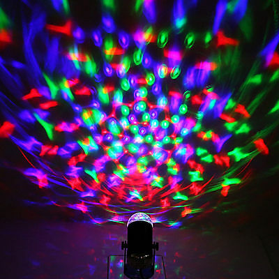 360°Rotating Disco KTV Bar Party Stage Lighting LED RGB Crystal Ball Laser Light