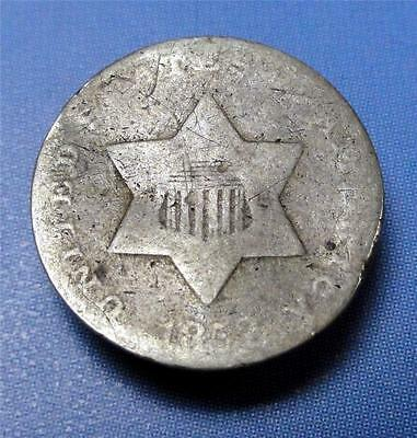 3 CENT SILVER 1852 Coin bent ME5827