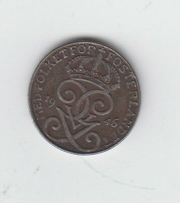 Sweden 1 Ore 1946 really nice condition