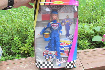 1998 50th Anniversary Nascar Barbie Collector Edition NRFB