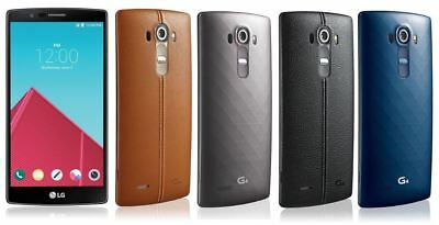 Lg G4 H811 32Gb T-Mobile Unlocked Smartphone Gray Genuine Leather Black & Brown
