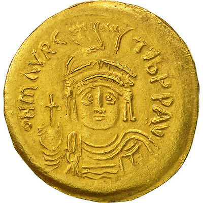 [#506803] Maurice Tiberius, Solidus, Constantinople, VZ, Gold, Sear:478