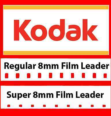 Kodak 8mm and Super 8mm White Movie Film Leader w/FREE Adapter (LOWEST PRICE!)