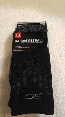 Under Armour Stephen Curry Basketball Socks 1 Pr Adult Size Medium NEW WITH TAGS
